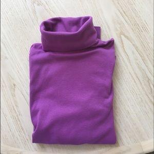 Lands End purple knit turtleneck size S